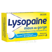 LysopaÏne Comprimés à Sucer Maux De Gorge Sans Sucre 2t/18 à LA ROCHE SUR YON