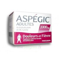Aspegic Adultes 1000 Mg, Poudre Pour Solution Buvable En Sachet-dose 20 à LA ROCHE SUR YON