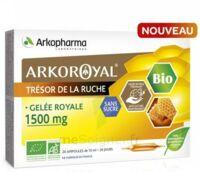 Arkoroyal Gelée Royale Bio Sans Sucre 1500mg Solution Buvable 20 Ampoules/10ml à LA ROCHE SUR YON