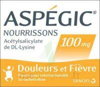 Aspegic Nourrissons 100 Mg, Poudre Pour Solution Buvable En Sachet-dose à LA ROCHE SUR YON