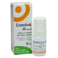 Cromabak 20 Mg/ml, Collyre En Solution à LA ROCHE SUR YON