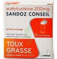 Acetylcysteine Sandoz Conseil 200 Mg Glé Solution Buvable En Sachet-dose 20sach/1g à LA ROCHE SUR YON