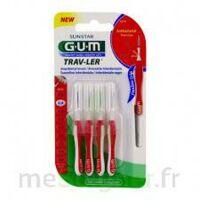 Gum Trav - Ler, 0,8 Mm, Manche Rouge , Blister 4 à LA ROCHE SUR YON