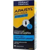 Apaisyl Anti-poux Xpress 15' Lotion Antipoux Et Lente 100ml+peigne à LA ROCHE SUR YON