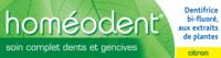 Boiron Homéodent Soin Complet Dents Et Gencives Pâte Dentifrice Citron 2t/75ml à LA ROCHE SUR YON